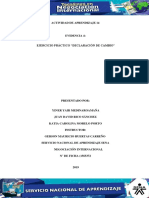 Evidencia 4 Ejercicio practico Declaracion