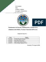 Fundamentos de Derecho Administrativo y Estudio de la Administración Pública, Nociones Generales del Proceso