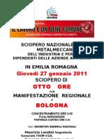 Volantino sciopero 27-01-2011 FIOM-CGIL