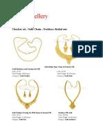 jewelry Product Portfolio