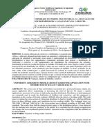 avaliação de uniformidade do perfil transversal na aplicação de calcário com distribuidor à lanço em taxa variável