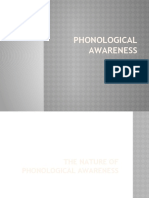 PHONOLOGICAL AWARENESS - as of Jan 22
