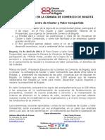 Michael Porter en la  Cámara de Comercio de Bogotá