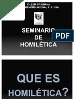 SEMINARIO DE HOMILETICA