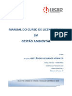 Manual de Gestão de Recursos Hídricos