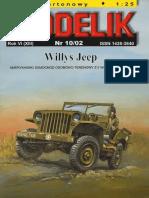 Modelik 2002.10 Willys Jeep (1)
