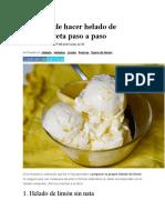 3 formas de hacer helado de limón