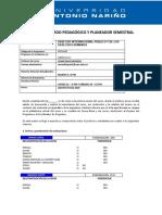 PLANEADOR Y ACTA INICIO DE CLASE DIP