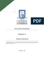 Guía del estudiante. Módulo 3 CÁLCULO GENERAL