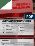 CUBIERTA EN POLICARBONATO