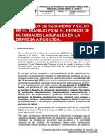 PROTOCOLO GENERAL AIRCO LTDA