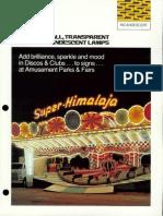 Sylvania Incandescent Small Transparent Colored Lamp Brochure 1976