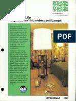 Sylvania Incandescent Supersaver Standard Life Lamp Brochure