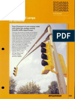 Sylvania Incandescent Supersaver Traffic Signal Lamp Brochure