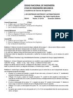 Examen Parcial de control 2014-II