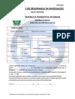 [FO 01 005] Formulário de Certificado de Segurança da Navegação