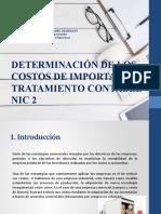 Determinación de los costos de importación - Tratamiento (3)