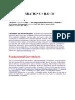 RECOMMENDATION OF ILO CONVENTION