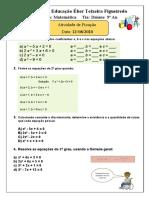 9º ano - Equação 2º Grau