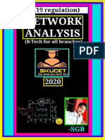 Notes on Network Analysis(Based on R19 Regulation)-By Shaik Gouse Basha