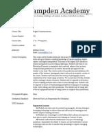 digital communications syllabus