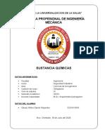 SUSTANCIAS QUIMICAS - OBESO ALFARO DANIEL ALEJANDRO