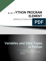Python Program Element - Variable