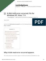 A disk read error occurred_ Fix for Windows XP, Vista, 7, 8
