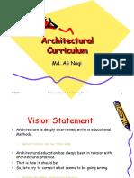 Architectural Curriculum