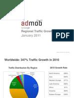 Admob Regional Traffic Growth
