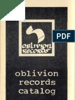 Oblivion Records Catalog