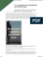 Marre de tout _ 20 questions pour changer de vie [Du bonheur et des livres]