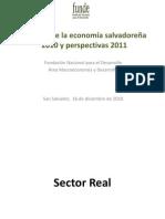 Balance de la Economia Salvadoreña 2010 y perspectivas 2011 FUNDE