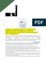 Ordonnaces Simplifications ASSOCIATIONS 1901 ,FONDATIONS Année 2020 Droit