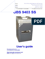 GBS9403ss - Operating Manual