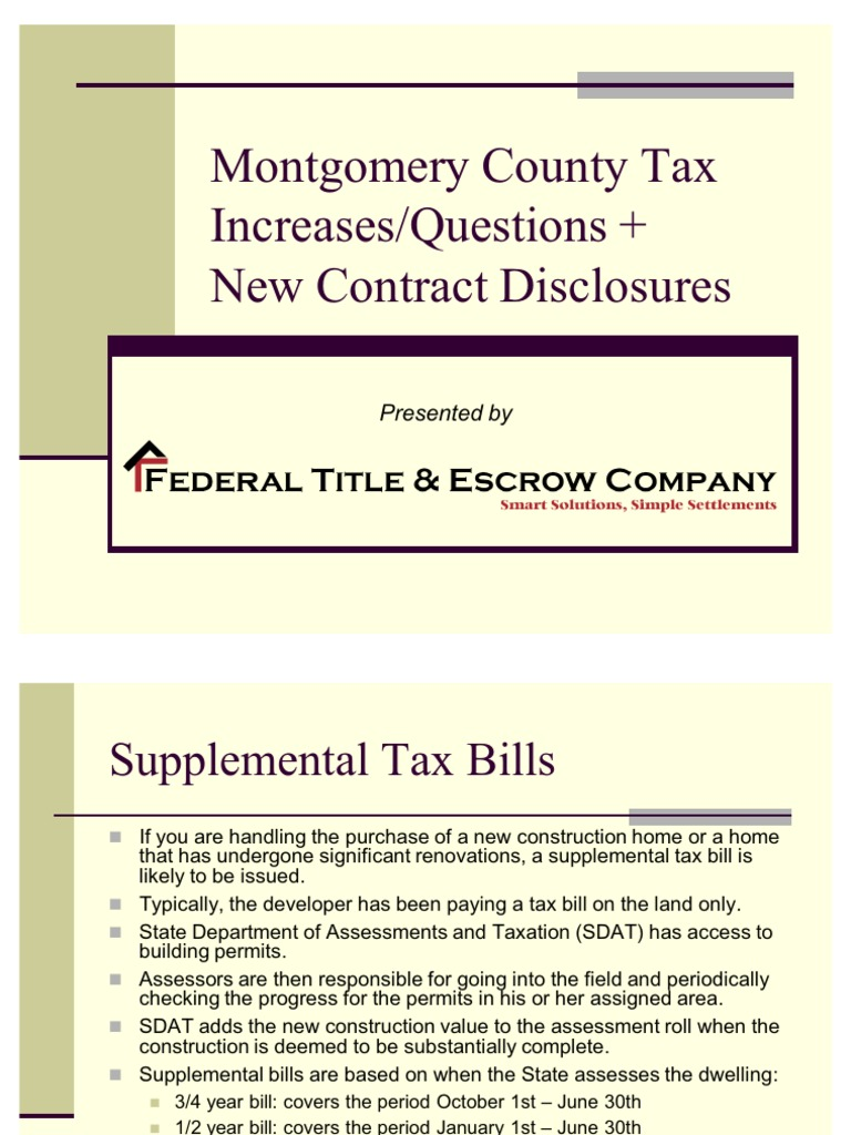 real estate property taxes  moco county maryland property tax taxes