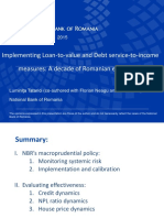 Implementing Loan-to-value and Debt service-to-income measures