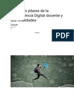 Los cinco pilares de la Competencia Digital docente y sus finalidades.docx antecedentes