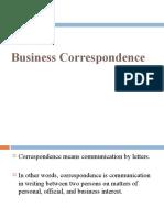 Business Correspondence PGDM