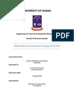 Marketing Communication Strtegy of ACI Salt