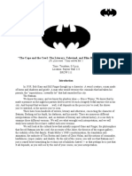 Batman Syllabus for 2010 Rice University Course