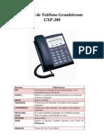 Manual de Telefono Grandstream GXP-280