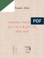 Panamá - Nación y Oligarquia 1925-1975 - Ricaurte Soler