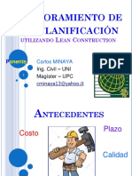 Productividad UNFV - Lean Construction