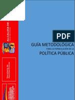 GUÍA METODOLOGICA PARA LA FORMULACIÓN DE LA POLITICA ETNOEDUCATIVA