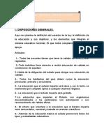 Resumen Ley General de Educacion