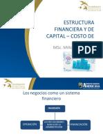 ESTRUCTURA FINANCIERA Y DE CAPITAL WACC MJDT