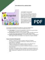 BIOSEGURIDAD EN EL LABORATORIO quimico