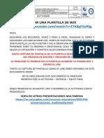 ACTIVIDAD ELEGIR UNA PLANTILLA DE WIX
