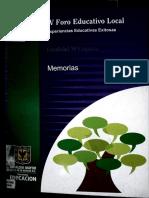 IV Foro educativo, memorias Engativa